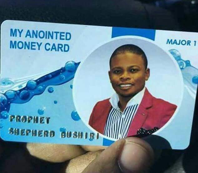 Bushiris money card